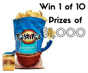 Win 1 of 10 Prizes of $1,000 from Tostitos