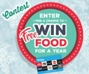 Win Free Food for a Year