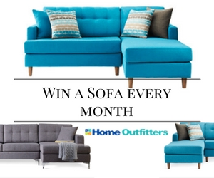Win a Sofa Every Month from Home Outfitters