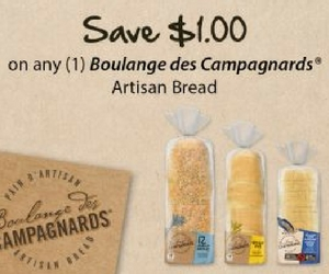 Save $1 Off Boulange des Campagnards Artisan Bread