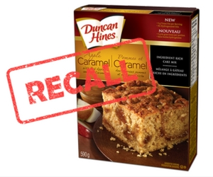 Duncan Hines Recall: Apple Caramel Cake Mix