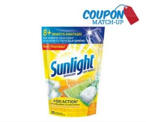 Free Sunlight Dishwashing Pacs