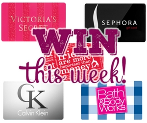Win 1 of 5 Brand Name Gift Cards Each Week