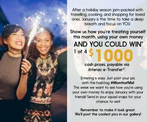 Win a $1,000 Interac e-Transfer