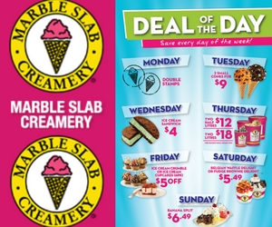 Deal of the Day at Marble Slab Creamery