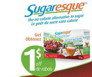 Save $1 Off Sugaresque No-Calorie Sweetener