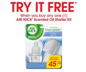 Free Rebate Air Wick Starter Kit