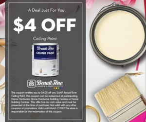 Save $5 Off Beauti-Tone Ceiling Paint