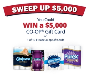 Win a $5000 CO-OP Gift Card
