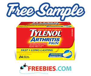 Free Bottle of Tylenol Arthritis Pain Relief
