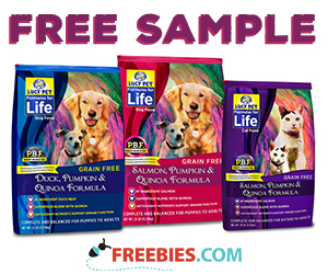 Free Formulas for Life Dog Food Sample