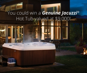Win a $9,000 Genuine Jacuzzi Hot Tub