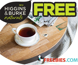 Free Tea Sample From Higgins & Burke