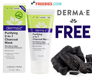 Free Purifying 2-in-1 Charcoal Mask