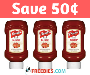 Save 50¢ off French's Ketchup