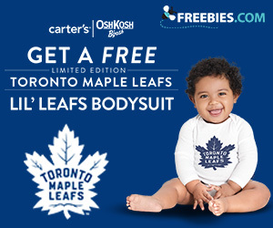 Free Limited Edition Toronto Maple Leafs Lil` Leafs Bodysuit