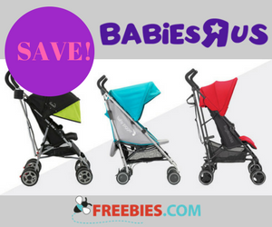 Save up to 40% off Umbrella Strollers at Babies R Us