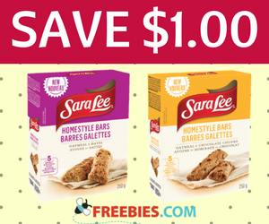 Save $1 on Sara Lee Homestyle Snacks