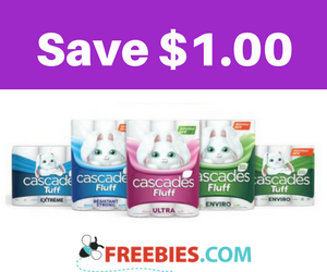 Save $1 off Cascades Fluff & Tuff Products