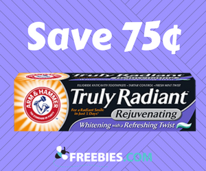 Save 75¢ on Arm & Hammer Toothpaste