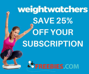 Save 25% on Your Weight Watchers Subscription Plan
