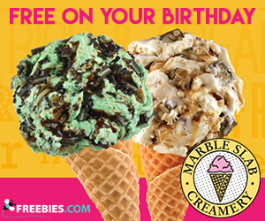 Free Cone on Your Birthday from Marble Slab Creamery