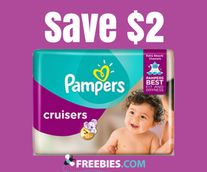 Save $2 on Pampers Cruisers Diapers