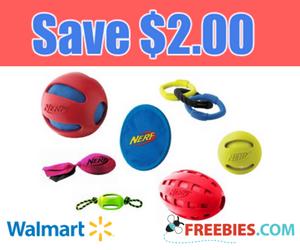 Save $2 on NERF Dog Toy at Walmart