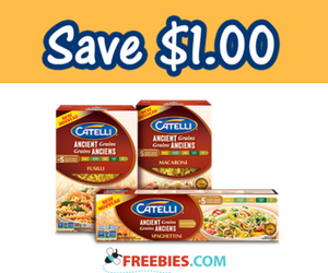 Save $1 on Catelli Ancient Grains Pasta
