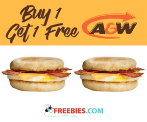 Buy 1 Get 1 Free Breakfast Sandwich at A&W