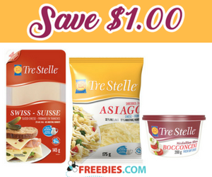 Save $1 off Tre Stelle Cheese