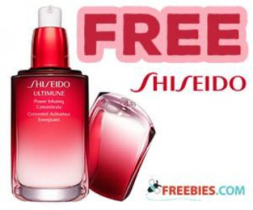 Free Card and Shiseido Skin Care Product