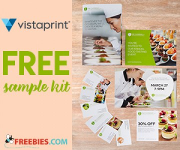 Free Sample Kit From Vistaprint