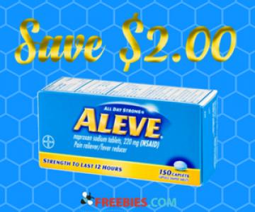 Save $2 off Aleve