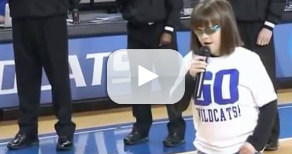 Blind Girl Sings A Breathtaking Star Spangled Banner