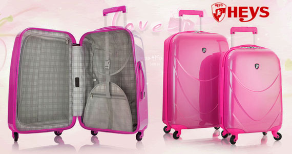 Win a Heys Strawberry Pink Luggage Set