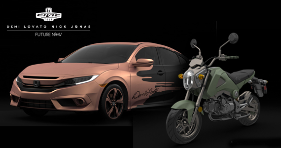 Win a Honda Civic or Grom Motorcycle