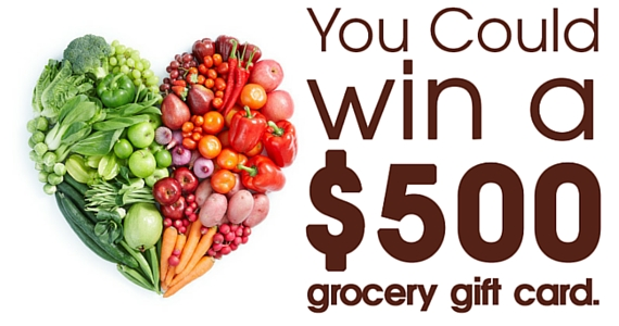Win 1 of 20 $500 Grocery Gift Cards