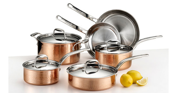 Win A 10-Piece Lagostina Hammered Copper Cookware Set