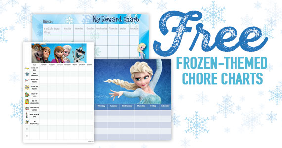 FREE Frozen-Themed Chore Charts