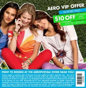 Save 10 at Aeropostale