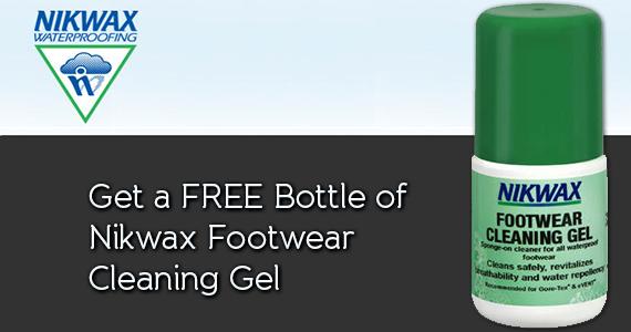 Get a FREE Bottle of Nikwax Footwear Cleaning Gel