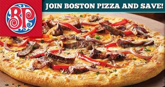 Join Boston Pizza and Save