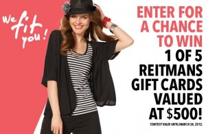 Win a Shopping Spree with Reitmans
