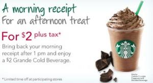 Starbucks Afternoon Treat