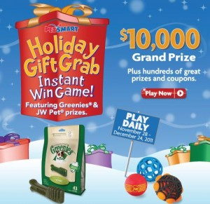 Petsmart Holiday Gift Grab Contest