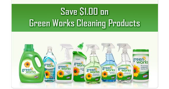 Save $1.00 on Green Works Cleaning Products
