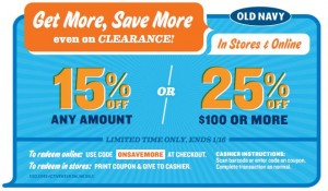 Buy More and Save More at Old Navy