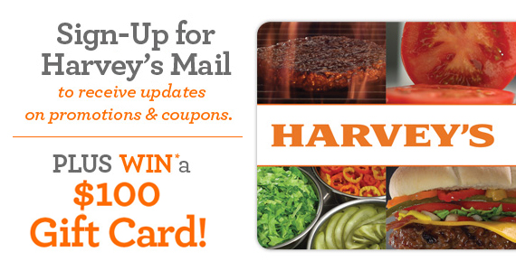 Join Harvey's, Save & Win