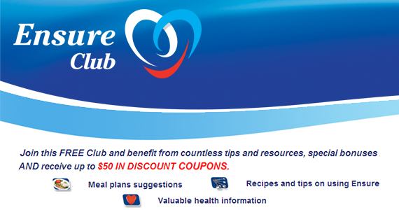 Join the Free Ensure Club For Coupons